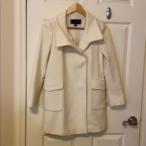 Ann Taylor Virgin wool cream coat Petite XXS
